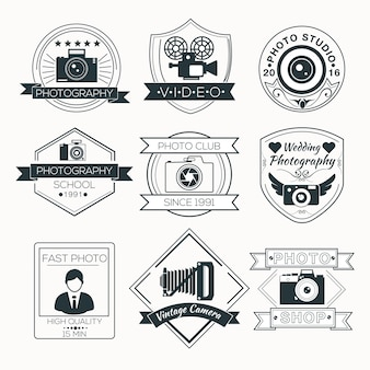 Vecteur série de badges de photographie