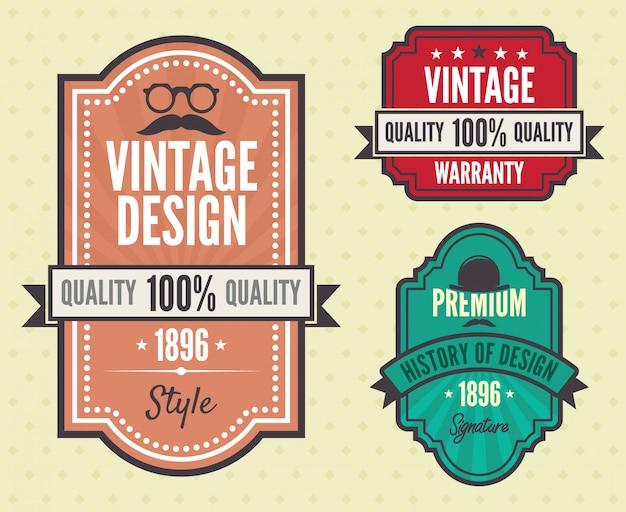 Vecteur série de badges vintage