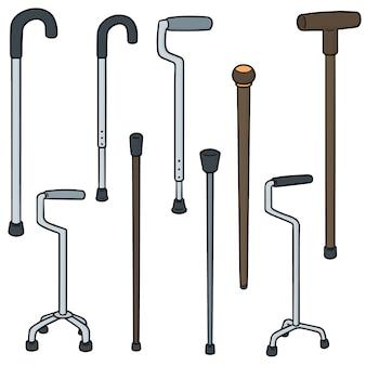 Vecteur série de bâton de marche