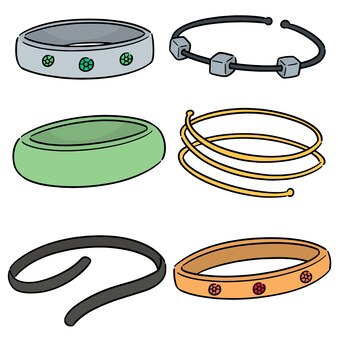 Vecteur série de bracelet