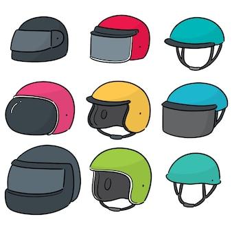 Vecteur série de casque de moto