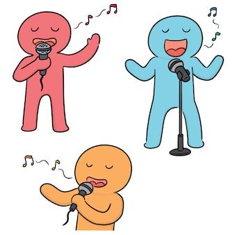 Vecteur série de chanteur