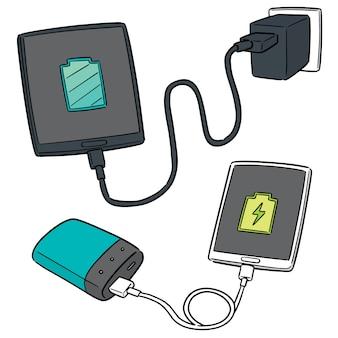 Vecteur série de charge de smartphone