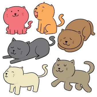 Vecteur série de chats