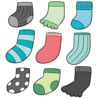 Vecteur série de chaussettes