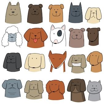 Vecteur série de chien