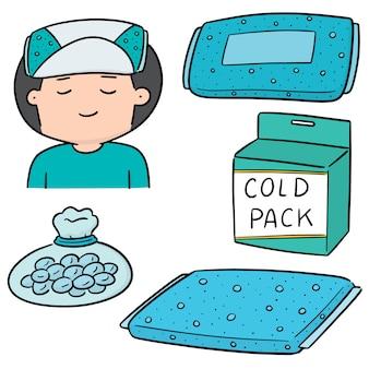Vecteur série de compresse froide