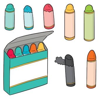 Vecteur série de crayons