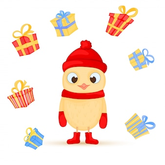 Vecteur série de chouettes de Noël
