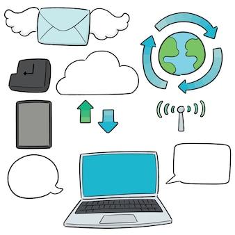Vecteur série d'icône internet