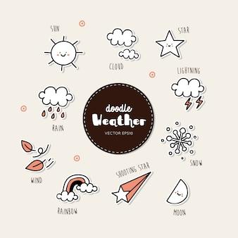 Vecteur série d'icônes météo