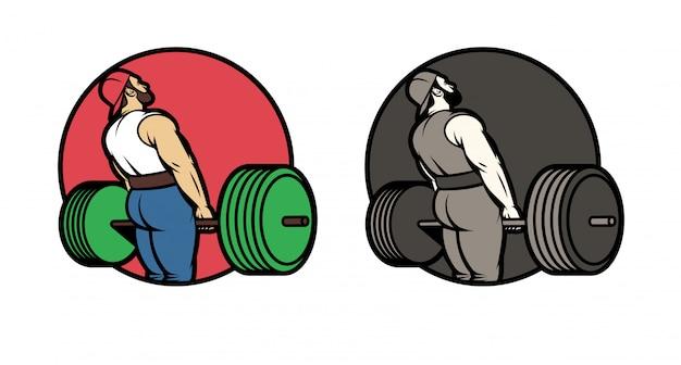 Vecteur série de logos pour le club de sport.