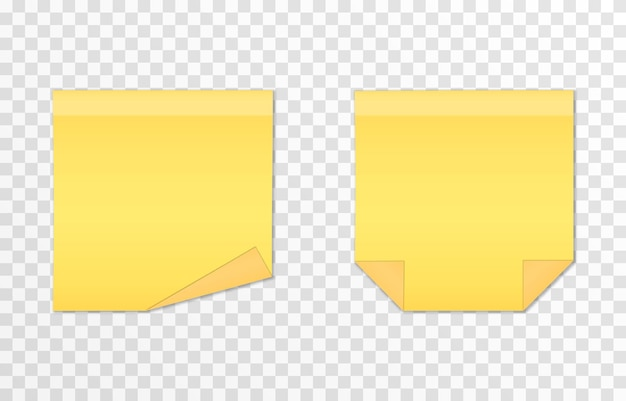 Vecteur série de papiers pour les notes sur un fond transparent isolé note réaliste feuille de papier