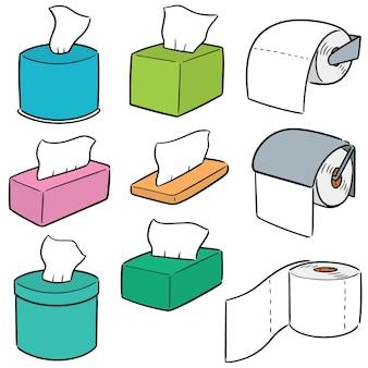 Vecteur série de papiers tissu