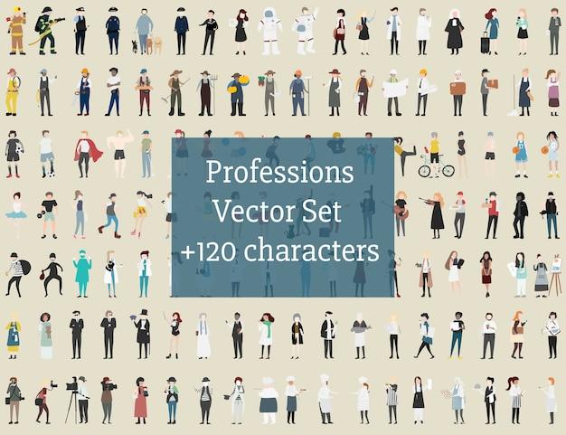 Vecteur série de personnes illustrées