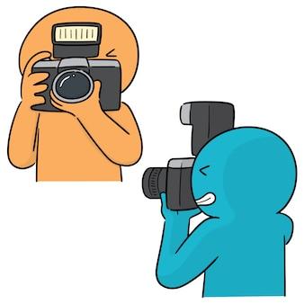 Vecteur série de photographes