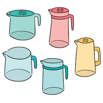 Vecteur série de pichet d'eau