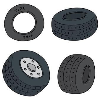 Vecteur série de pneus
