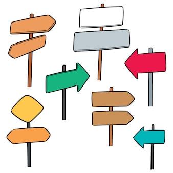 Vecteur série de poste de direction