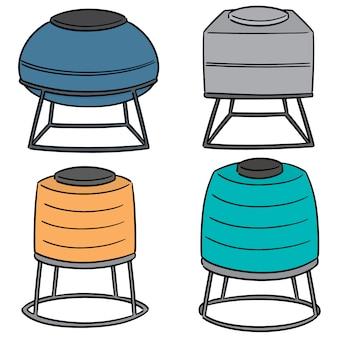 Vecteur série de réservoirs de stockage d'eau