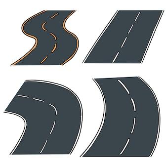 Vecteur série de route