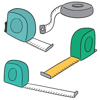 Vecteur série de ruban à mesurer