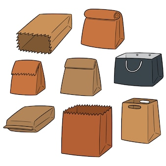 Vecteur série de sac en papier