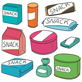Vecteur série de snack