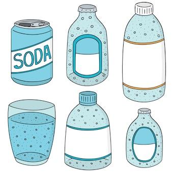 Vecteur série de soda