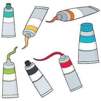Vecteur série de tube de couleur