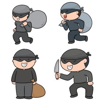 Vecteur série de voleur