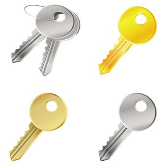 Vecteur sertie de clés - concept de sécurité