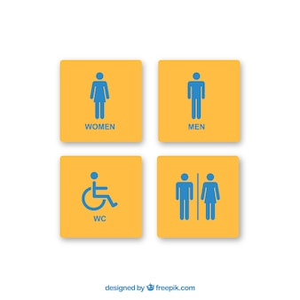 Vecteur signes de salle de repos