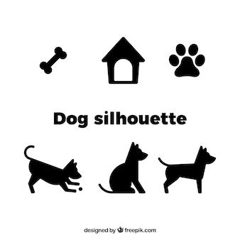 Vecteur silhouette de chien