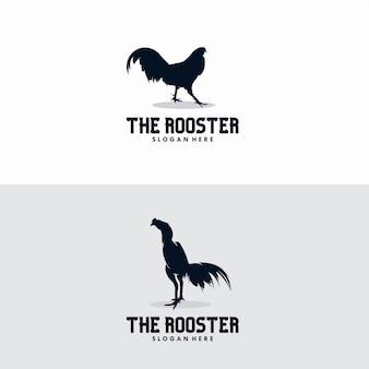 Vecteur de silhouette de coq, vecteur de coqs de poulets de volaille