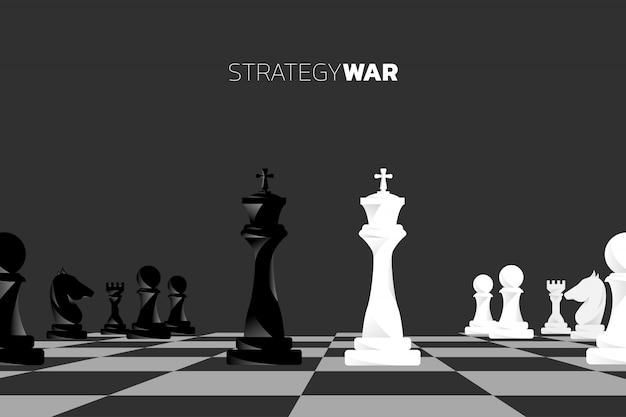 Vecteur de silhouette de pièce d'échecs.