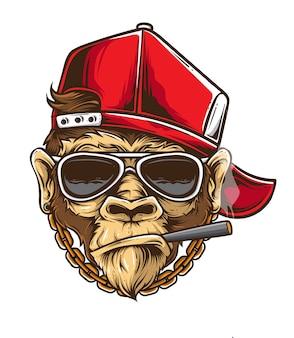 Vecteur de singe funky
