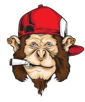 Vecteur de singe rebelle