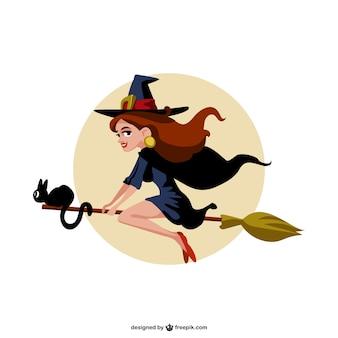 Vecteur sorcière de bande dessinée