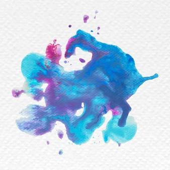 Vecteur de splash aquarelle bleu et rose abstrait