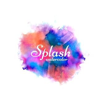 Vecteur de splash aquarelle coloré