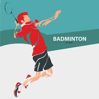 Vecteur de sport de badminton
