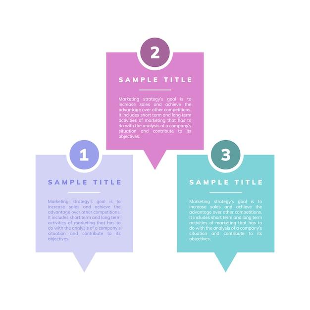 Vecteur stratégie et objectifs marketing