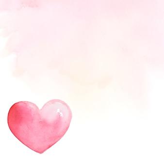 Vecteur de style aquarelle pour le fond saint-valentin