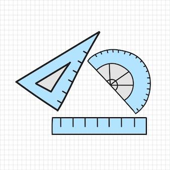 Vecteur de style de papeterie doodle