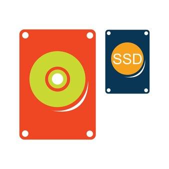 Vecteur de style plat de disque dur