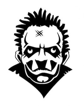 Vecteur de style de steamboy visage fou