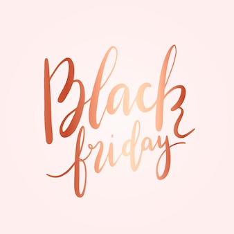 Vecteur de style typographie black friday