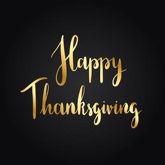 Vecteur de style de typographie happy thanksgiving