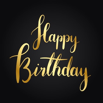 Vecteur de style typographie joyeux anniversaire
